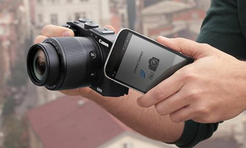GODKJENT: Canons Camera Connect får godkjent-stempel både i iOS- og Android-versjon. Foto: Canon