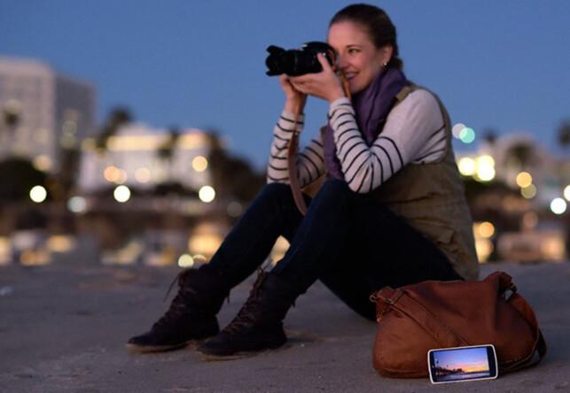 FORSKJELL: Nikons foto-app SnapBrigde overfører stedsdata i iOS, men ikke i Android. Foto: Nikon