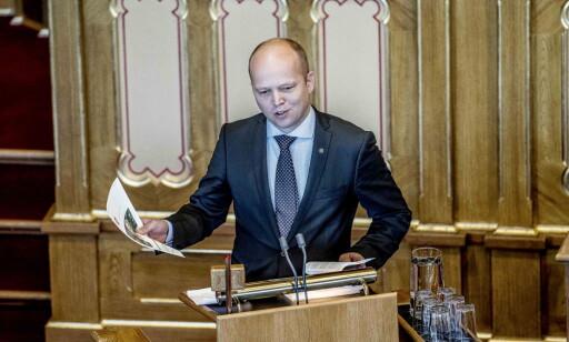 SINNA PÅ SYLVI: Trygve Slagsvold Vedum vil ikke at det skal koste penger å dø i Norge. Foto: Thomas Rasmus Skaug / Dagbladet
