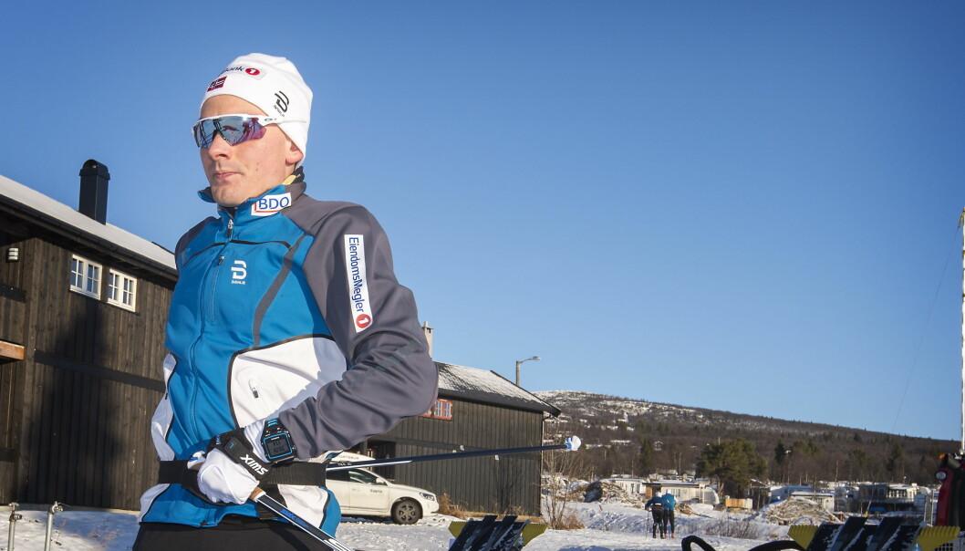 <strong>SPÅS EN KNALLSESONG:</strong> Finn Hågen Krogh er utpekt som Norges ankermann i OL-stafetten i februar. Nå tror landslagstreneren han kan bli OL-konge også.<br> Foto: Hans Arne Vedlog