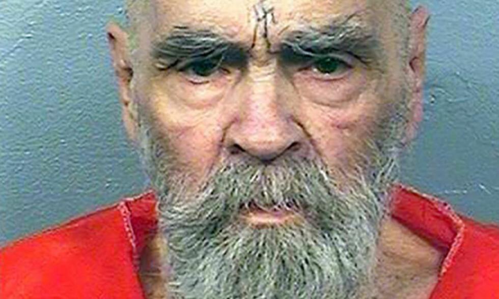 DØD: Charles Manson. Foto: AFP PHOTO / California Department of Corrections and Rehabilitation / Handout / NTB Scanpix
