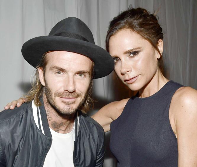 STJERNEPARET: David og Victoria Beckham fremstår som et av de stødigste og lykkeligste parene i kjendis-verdenen. Duoen har vært gift i over 18 år. Foto: NTB Scanpix