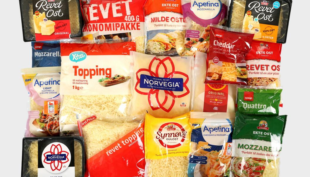 <strong>ERNÆRINGSTEST:</strong> Ekte ost er mye sunnere enn det som kaller seg for «revet» eller «topping». Foto: Erik Helgeneset / Bramat.no