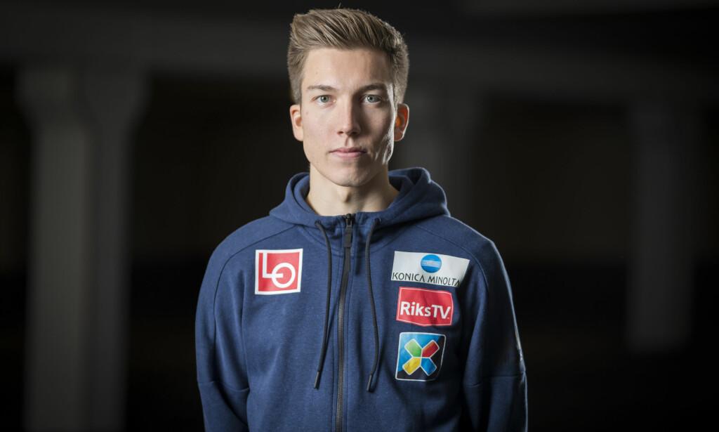 UTEN UTSTYR: Johann André Forfang står i fare for å miste verdenscupåpningen i Wisla. Norwegian klarte ikke å få med Tromsø-hopperens utstyr til Krakow.  Foto: Heiko Junge / NTB scanpix