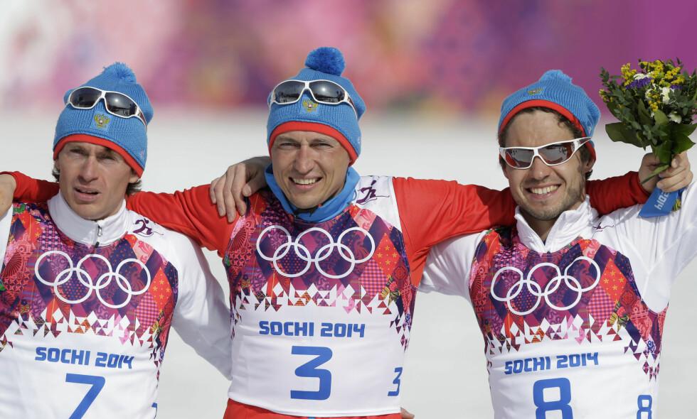 FRIFUNNET: 28 russiske utøvere ble torsdag frifunnet for doping under Sotsji-OL. Flere av dommerne i CAS har lang erfaring med idrettsjus. Foto: Matthias Schrader / AP / NTB Scanpix