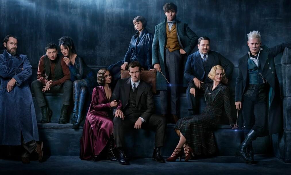 <strong>GJENGEN ALLIANSE:</strong> Slik presenterer Warner Bros. karakterene i den neste filmen fra Harry Potter-universet. Filmen har fått navnet «Fantastic Beasts: The Crimes of Grindelwald». Foto: Warner Bros.