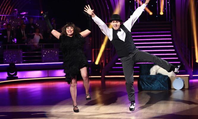 <strong>LIVSGLEDE:</strong> For danseband-dronningen Jenny Jensen, ga ikke dansingen bare uttelling fysisk. Hun forteller at dansingen også førte til en sunnere livsstil og større livsglede. Foto: Thomas Reisæter/TV 2