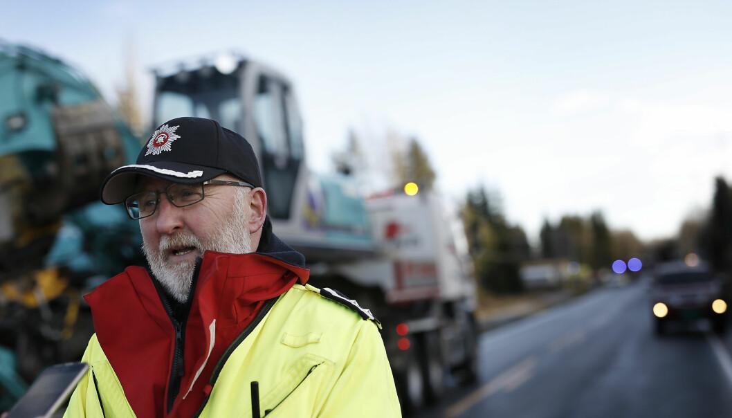 INNSATSLEDER: Trond Granlund var først på stedet i etterkant av eksplosjonen på Metallco Aluminium. Foto: Anita Arntzen / Dagbladet