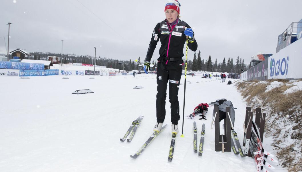 <strong>LYKTES:</strong> Ragnhild Haga, her fra torsdagens trening på Beitostølen, var sjeldent glad for fjerdeplassen i sesongåpningen. Foto: Terje Pedersen / NTB Scanpix