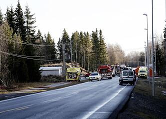 ÅSTED: Det var i dette området en eksplosjon inntraff på Eina. Foto: Anita Arntzen / Dagbladet