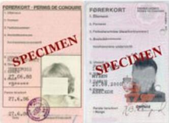 <strong>UGYLDIGE SOM ID:</strong> De laminerte førerkortene er ikke gyldige som legitimasjon, selv om innehaverne kan ha gyldig førerrett. Foto: Statens vegvesen