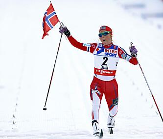 IMPONERTE: Therese Johaug har imponert en hel nasjon en rekke ganger med sine prestasjoner i skisporet. Foto: NTB Scanpix