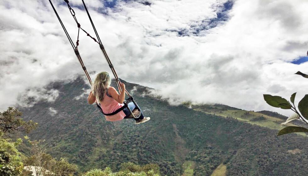 «VERDENS ENDE»: Denne huska langt oppe i fjellene i Ecuador tiltrekker seg hundrevis av besøkende hver eneste dag. Historien bak er minst like spesiell som selve huska. Foto: Eliot Stein