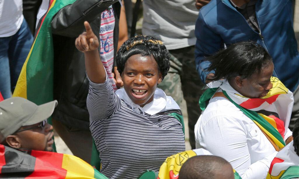 image: Titusener demonstrerte mot Mugabe: - Et lite pustehull av ytringsfrihet