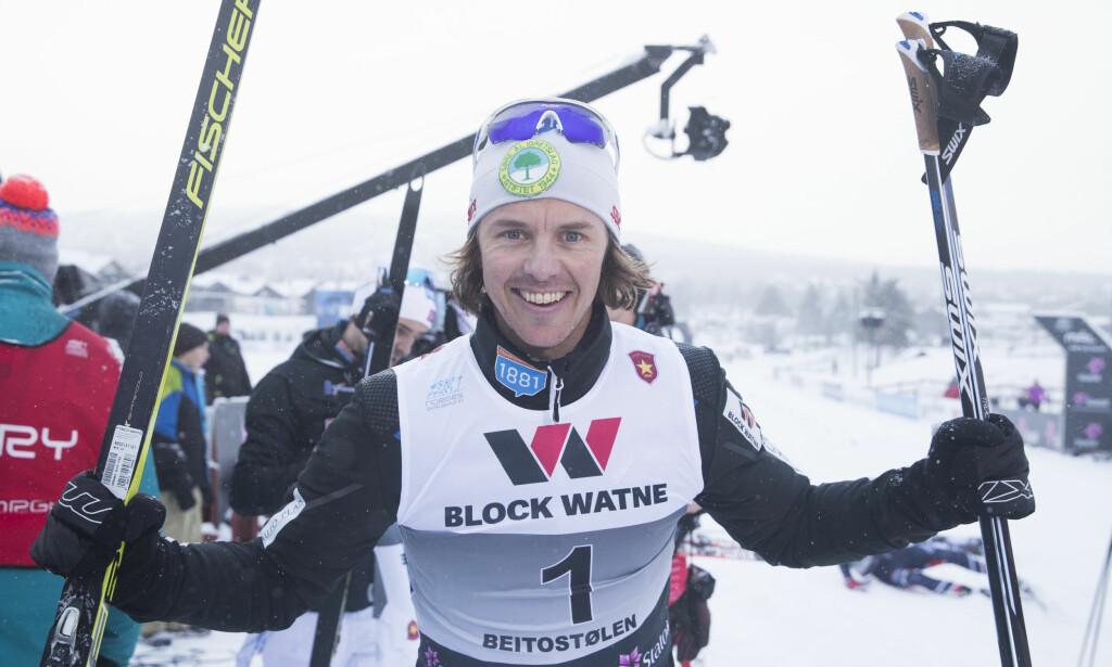 GIR SEG: Mikko Kokslien (32) avslutter kombinertkarrieren etter lørdagens verdenscuprenn i Holmenkollen.   Foto: Terje Pedersen / NTB scanpix