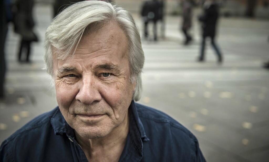 - KAN MAN GI KVINNER EN KLEM?: Den svenske forfatteren Jan Guillou sier at #Metoo-kampanjen har gjort det å være en aldrende mann det mest motbydelige man kan være for tida. Foto: Øistein Norum Monsen / Dagbladet