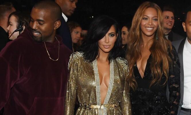 IKKE GODE VENNER: Selv om Kim Kardashian og Beyoncè tilsynelatende så ut til å være en del sammen etter at Kim ble sammen med Kanye, er de to ikke særlig gode venner. Foto: NTB Scanpix