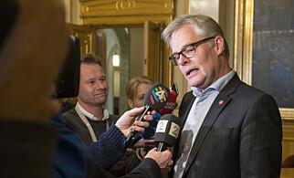 UENIG: Hans Andreas Limi, parlamentarisk leder for Fremskrittspartiet, mener Carl I. Hagen er valgbar. Foto: Vidar Ruud / NTB scanpix
