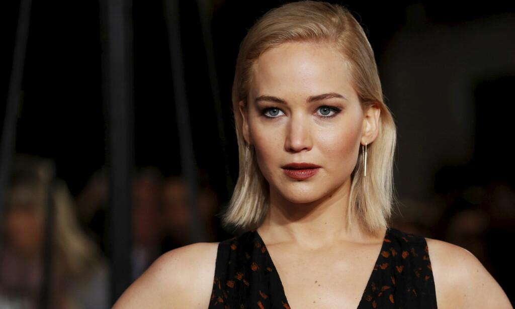ÅPNET: Jennifer Lawrence ble i 2014 offer for hacking, som sørget for at flere private bilder av henne dukket opp på nett. Nå forteller hun at hendelsen har gått tungt inn på henne. Foto: NTB scanpix