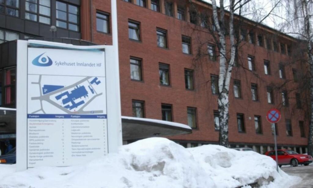 LEVERT: Her på Sykehuset Innlandet ble Rolf Eide levert. Foto: Trond T. Jacobsen / Sykehuset Innlandet