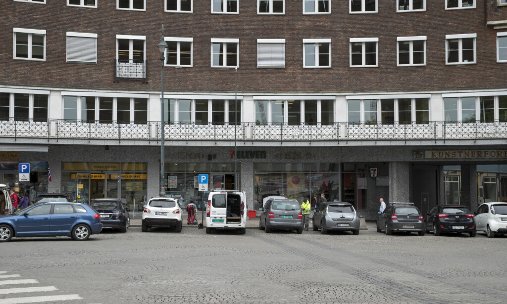 <b>FORBUDT Å PARKERE:</b> Rådhusplassen i Oslo. Foto: Vidar Ruud / NTB scanpix