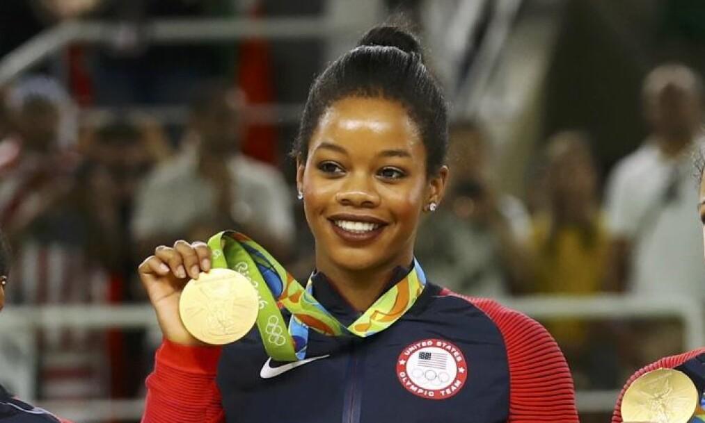 ÅPNET OM: OL-vinner Gabby Douglas er den siste av flere på det amerikanske turnlandslaget som har beskyldt landslagslegen Larry Nassar for seksuelt misbruk. Foto: Mike Blake / Reuters / NTB Scanpix.