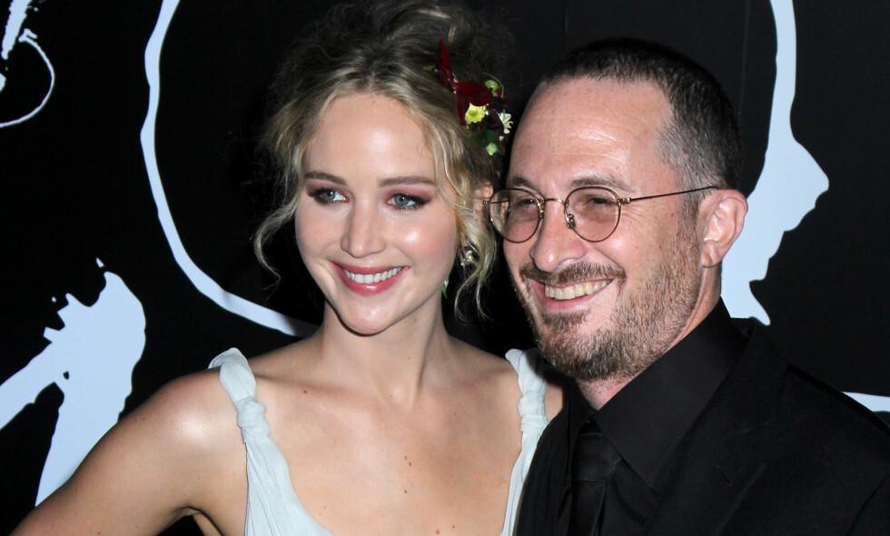 SLUTT: Ifølge flere utenlandske medier skal det være slutt mellom Jennifer Lawrence og hennes 21 år eldre kjæreste, Darren Aronofsky. Foto: NTB Scanpix