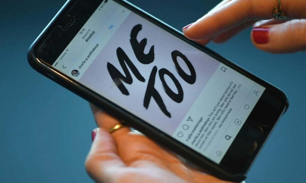 #METOO: Den norske mediebransjen har gjennomført en undersøkelse om seksuell trakassering blant sine ansatte. Resultatene ble offentliggjort fredag formiddag, og viser blant annet at én av ti kvinner mellom 18-30 har opplevd trakassering de siste seks månedene. Foto: Fredrik Sandberg / NTB scanpix