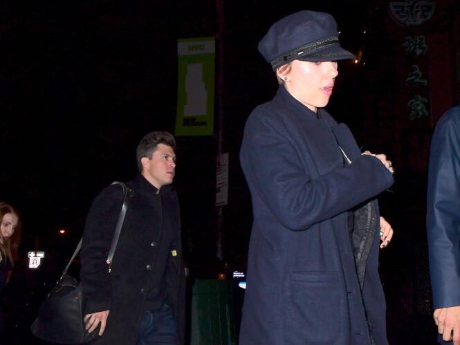 TILBRINGER TID SAMMEN: Scarlett og Colin har blitt observert sammen en rekke ganger den siste tiden. Foto: Splash News/ NTB scanpix