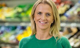 GODT FORNØYD: Kristine Aakvaag Arvin i Kiwi er fornøyd med at Kiwi har satt flere rekorder.