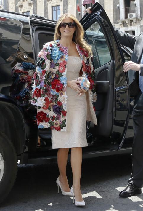 KONTROVERSIELT: Trumps omdiskuterte antrekk fra Dolce & Gabbana hadde en totalverdi på 433 000 kroner. Foto: NTB scanpix
