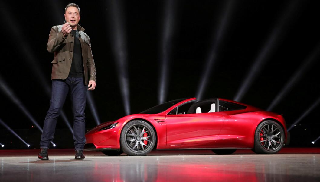 <strong>TESLA-FRONTFIGUR:</strong> Milliardæren Elon Musk. Foto: Tesla/Handout via REUTERS/NTB Scanpix