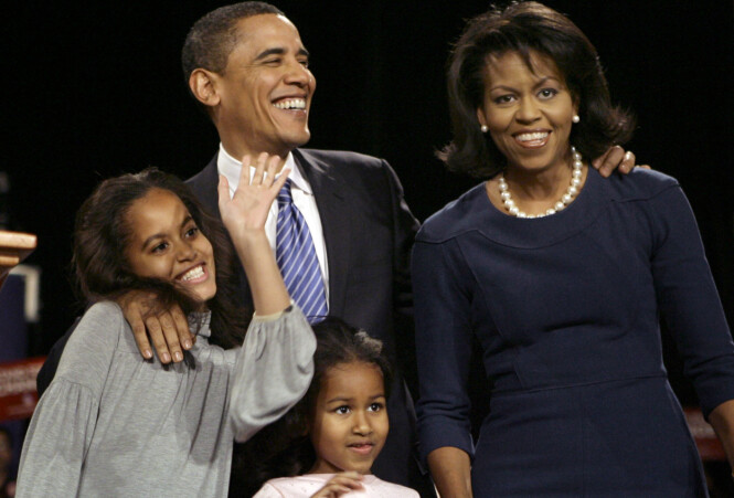 <strong>RETT TIL PRIVATLIV:</strong> En rekke profilerte personer har tatt til orde for at privatlivet til Barack og Michelle Obamas døtre ikke har noe i offentligheten å gjøre. Foto: NTB Scanpix