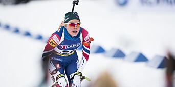 image: Norge langt bak i skiskytterstafetten