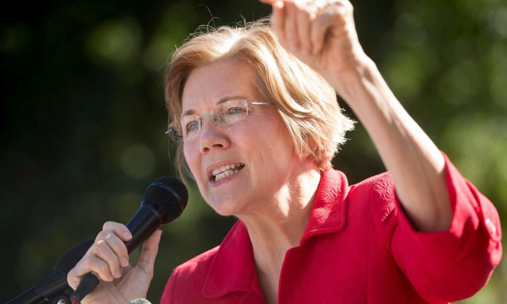ERKEFIENDEN: Senator Elizabeth Warren har tatt store steg det siste året, og regnes som én av favorittene til å stille mot Trump i presidentvalget i 2020. Foto: Saul Loeb / AFP / NTB Scanpix