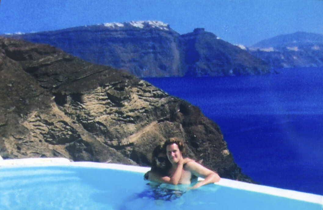 <strong>IDYLLISK:</strong> Meghan poserer foran kameraet under en ferie med eks-mannen Trevor. Foto: Splash News.