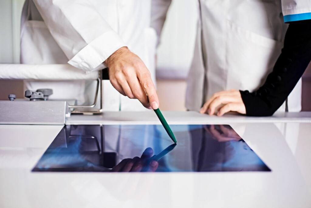 GOD ELLER OND? Ofte må man ta billeddiagnostikk med ultralyd eller røntgen for å vurdere om man skal ta en prøve av svulsten.    Foto: Shutterstock