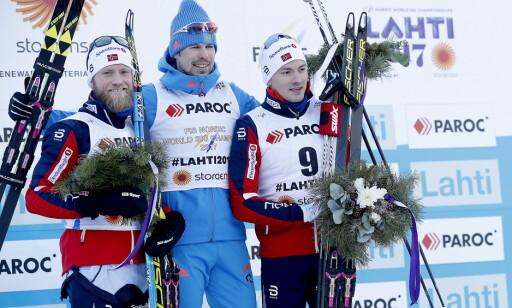 HERJET: Sergej Ustjugov ble VM-kongen i Lahti og snøt blant annet Martin Johnsrud Sundby for gullet på tremila. Foto: Bjørn Langsem / Dagbladet
