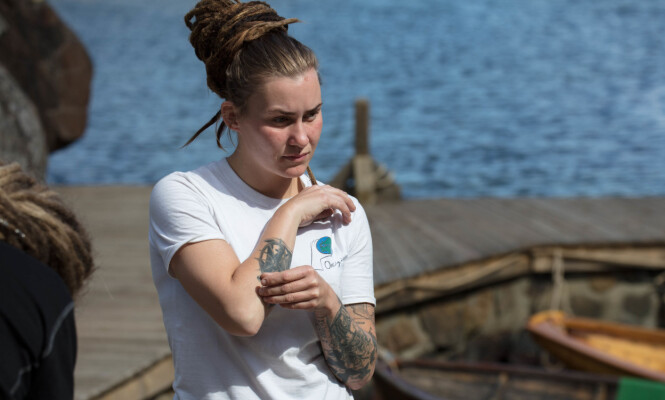 FAMILIEKJÆR: Camilla Cox Barfots tatoveringer har alle personlig betydning. Foto: Alex Iversen / TV 2