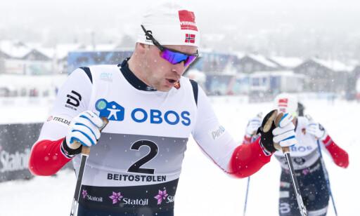 STERK PROLOG: Fredrik Riseth var nest best i prologen på Beitostølen og ble til slutt nummer fire. Foto: Terje Pedersen / NTB scanpix