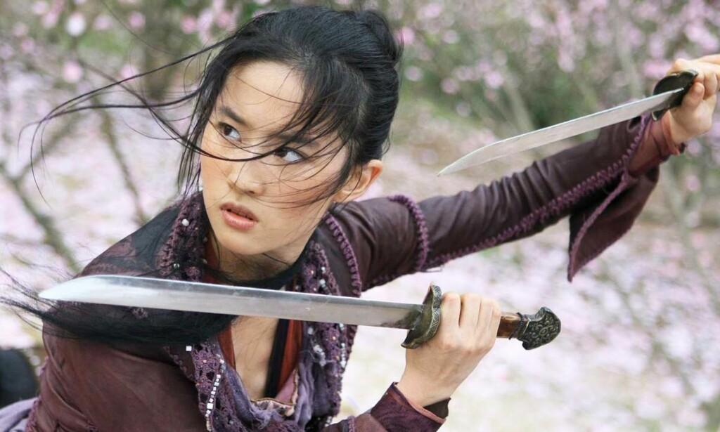 STJERNE: Liu Yifei er en av Kinas mest populære skuespillere. Her er hun i en scene fra filmen «The Forbidden Kingdom» i 2008. FOTO: Skjermdump