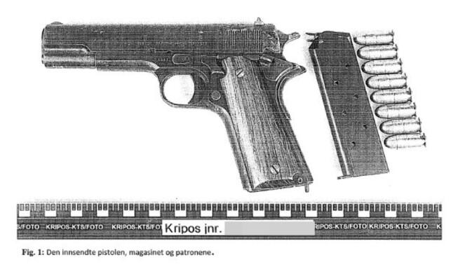 PISTOLEN: Her er pistolen som ble funnet hjemme hos den fryktede gjenglederen - åtte år etter at den var antatt ødelagt. Foto: Kripos