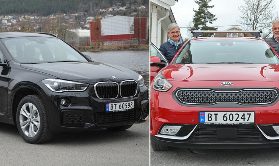 POPULÆRE BILER: BMW X1 og Kia Niro gjorde det skarpt i bladet «Vi over 60» sin kåring av beste seniorbiler i to forskjellige prisklasser. Les alt om kåringen i denne plussartikkelen. Foto: Frank Williksen