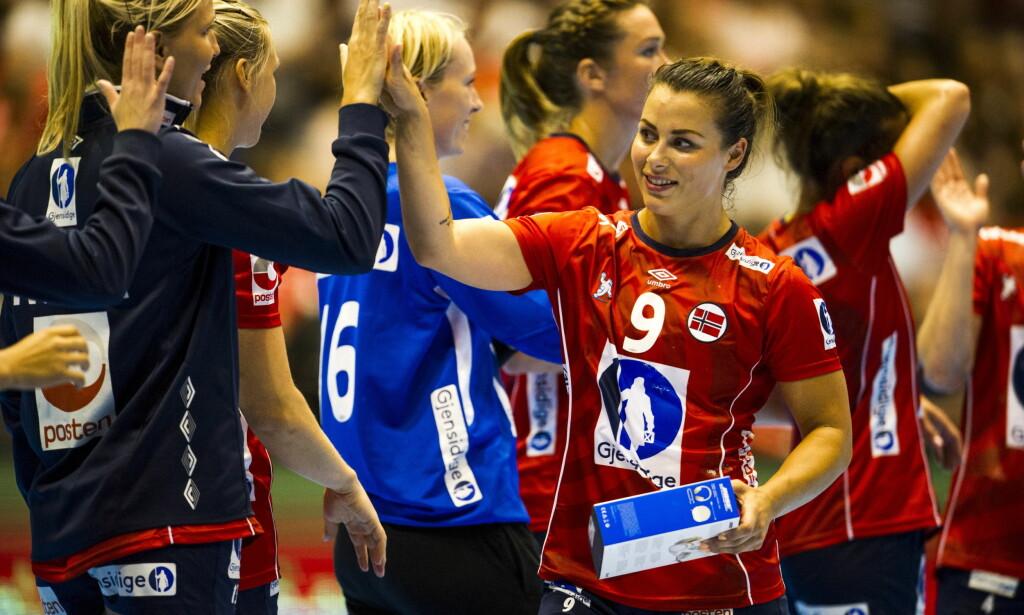 STJERNELAG: Med Nora Mørk i spissen kjemper Norge for gull i håndball-VM. Foto: Andreas Lekang / Dagbladet