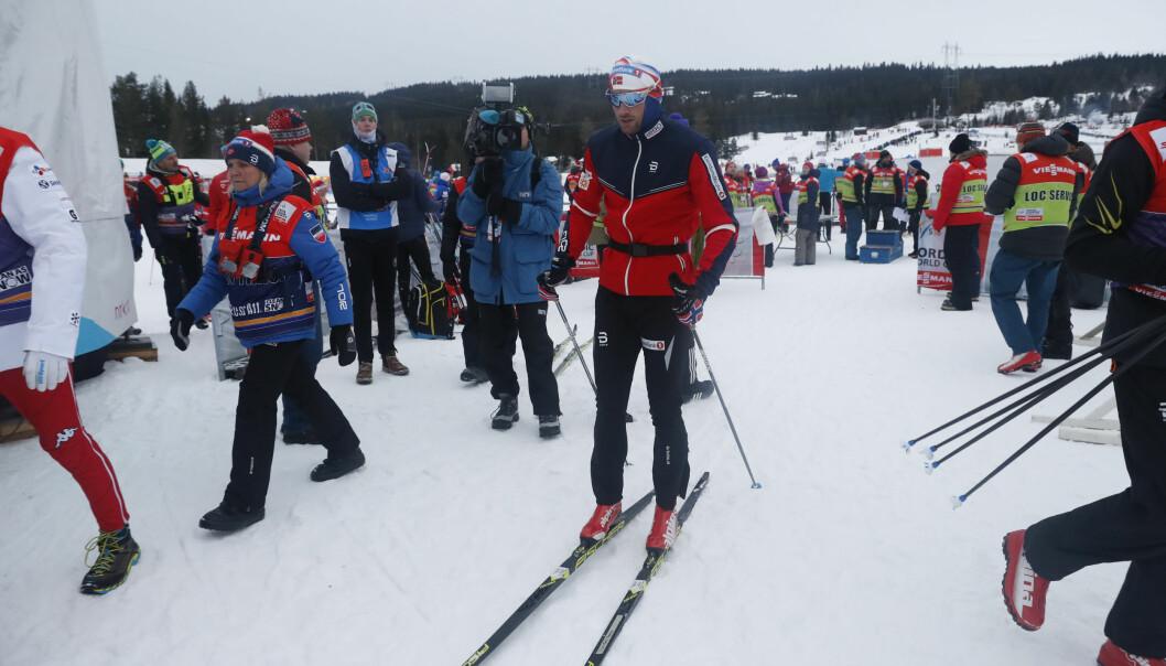 <strong>SNAKKET IKKE MED NOEN:</strong> Petter Northug var tydelig skuffa over 32. plassen i prologen i dag. Foto: Terje Bendiksby / NTB Scanpix