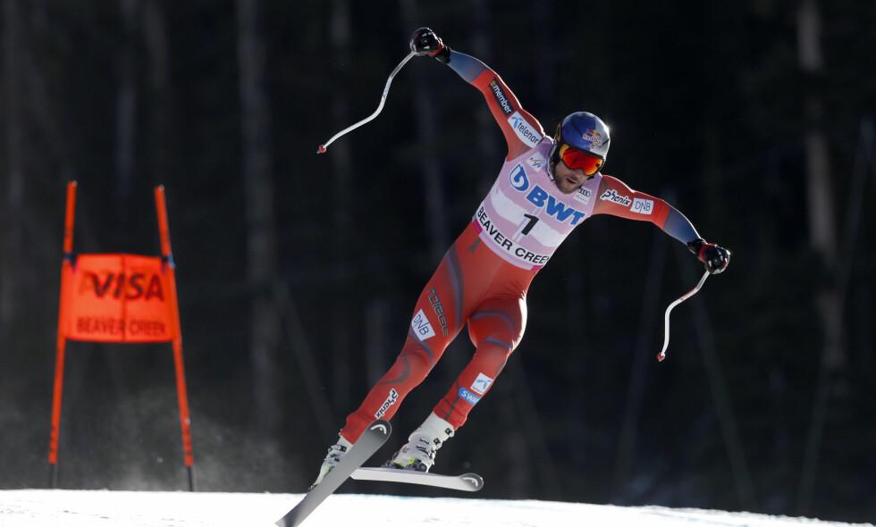 TILBAKE: Aksel Lund Svindal er for alvor tilbake. I Beaver Creek i USA tok han sin første verdenscupseier siden den alvorlige kneskaden i 2016. Foto: Jeff Swinger/USA TODAY Sports/NTB Scanpix
