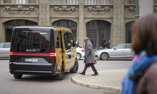 BUSS-STOPP: Selskapet vil lansere stoppesteder for hver 250 meter på tvers av hele Hamburg i løpet av neste år. Foto: MOIA