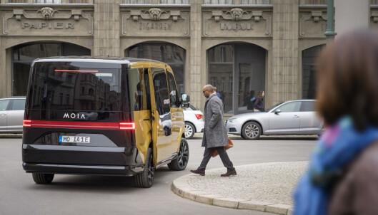 <strong>BUSS-STOPP:</strong> Selskapet vil lansere stoppesteder for hver 250 meter på tvers av hele Hamburg i løpet av neste år. Foto: MOIA