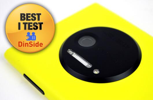 <strong>BEST:</strong> Nokia Lumia 1020 har det beste mobilkameraet.  Foto: Ole Petter Baugerød Stokke