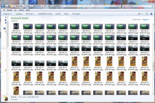 <strong>HEISANN:</strong> Etter noen dager med Zoe-fotografering på HTC One får du en stygg overraskelse i Dropbox-kontoen din.  Foto: Ole Petter Baugerød Stokke